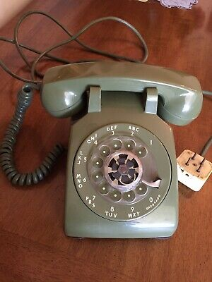 Vintage Rotary Dial Green Desk Telephone Western Electric Cd500