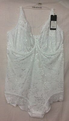 BNWT Charnos Rapport RA007 Lace Short in Lilac White Black and Cinnamon