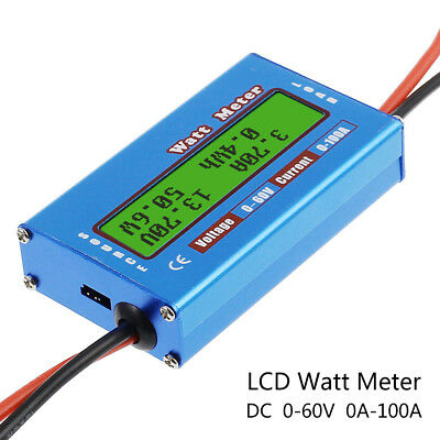 Digital Monitor LCD Watt Meter 60V/100A DC Ammeter RC Battery Amp Analyzer yc