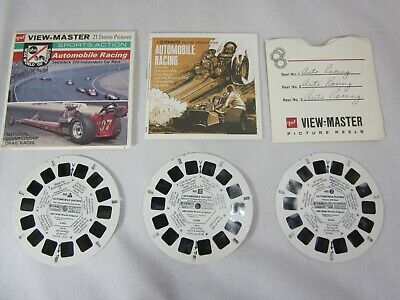 Vintage GAF View-Master Viewmaster Automobile Racing Wide World of Sports B948
