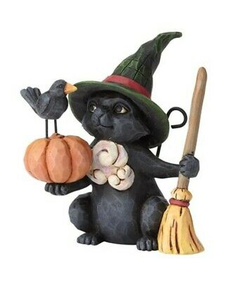 Jim Shore Halloween Mini Witch Cat with Pumpkin #6001551 BRAND NEW Free Shipping
