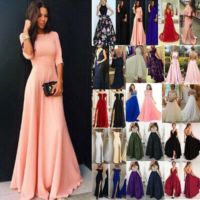 Women's Formal Maxi Long Dress Evening Party Bridesmaid Prom Ball Gown Wedding