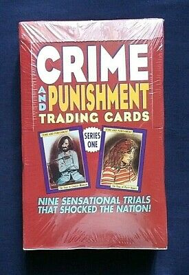 1992 Eclipse Crime & Punishment Trading Cards Series 1 Sealed Box 36 Packs Rare!