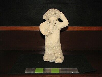 Pre Columbian,Tested, Pottery, Veracruz, Warrior w/Serpent, PC/T/C 100 1000 AD