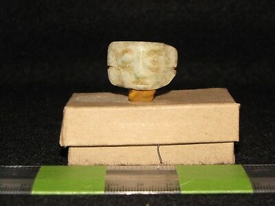 Pre Columbian, Jade, Mixtec, Necklace Pendant, Bead, La/Post Class. 1200 1500 AD