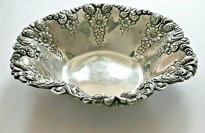 Black Starr & Frost Floral Sterling Bowl - Numbered - Gently Polished - 7 in dia