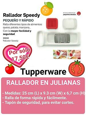Oferta!! Rallador En Julianas Con Proteccion Tupperware