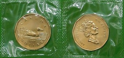 1997 Canada Loonie Sealed in Cellophane