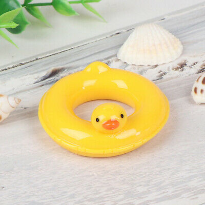 1:6 1:12 Dollhouse miniature yellow duck life swim ring for doll dollhouse dBDA