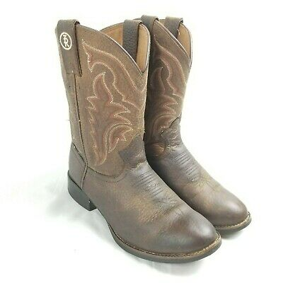 c2b3f08ab7a TONY LAMA 3R Stockman Brown & Red Bull Hide Leather Cowboy Boots ...