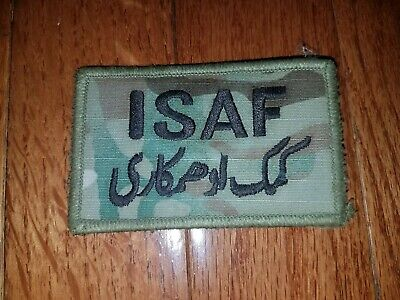 US Army International Security Assistance Force ISAF OCP hook-pile tape patch