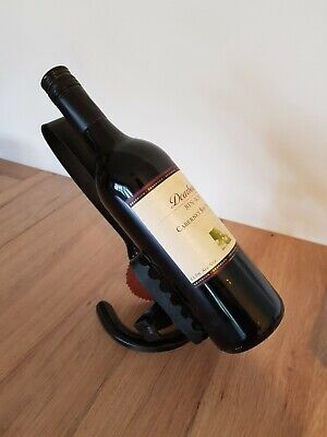 Recycled Rabbit Trap Wine Bottle Holder - Metal Art, Man Cave