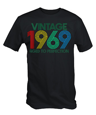 Vintage 1969 Aged To Perfection 50th Compleanno T-Shirt Cinquantesimo 2019