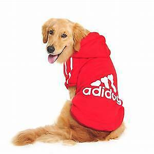 Dog Clothing Hoodie Pet Coat Jacket Cute Dogs New All Sizes Small Medium Large