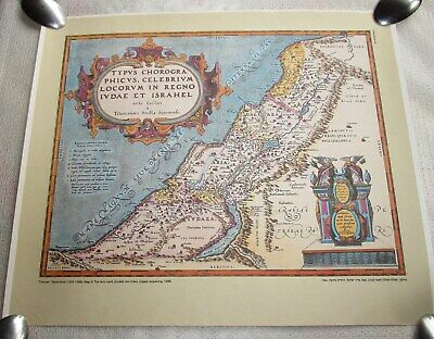 Map Of The Holy Land Divided Into Tribes 1586