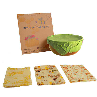 Portable Kitchen Eco Friendly Food Safe Fresh Keeping Washable Beeswax Cloth