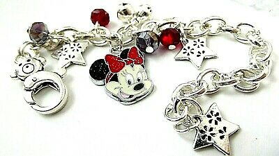 MINNIE MOUSE ADJUSTABLE BRACELET STRONG SILVER 2-4 YEAR GIFT BOX BIRTHDAY PARTY