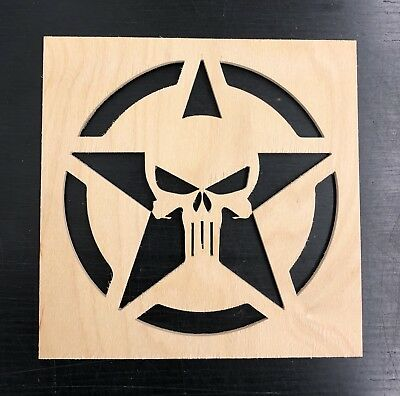 PUNISHER STENCIL WOODEN, Spray Paint, Airbrush, Street Art