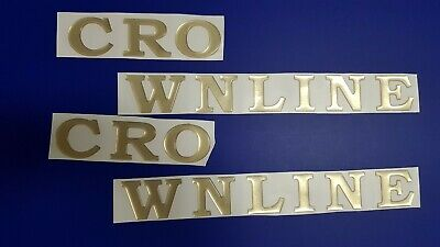 "Crownline Boat Emblems 25"" gold + FREE FAST delivery DHL express"