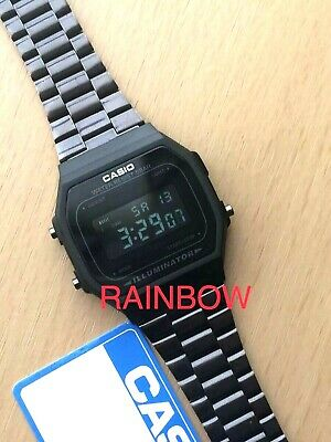 Genuine CASIO Retro Classic Unisex Digital Steel Watch-A168WA-1YES Black