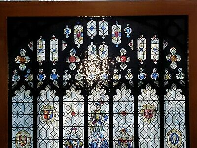 Vintage Stained-Glass Like Medieval Window Decor