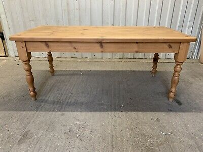 Large Rustic Solid Pine Farmhouse Dining Kitchen Table 6x3ft  Seats 6-8 Wood