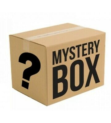 Mystery box new electric, clothing toys games , dvds, all new 5 items