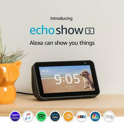 Introducing Echo Show 5 – Compact smart display with Alexa - Charcoal, New