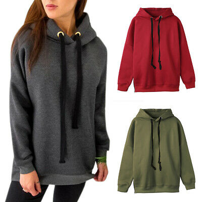 DAMEN PULLOVER HOODIE Winter Pulli Sweatshirt Sweater