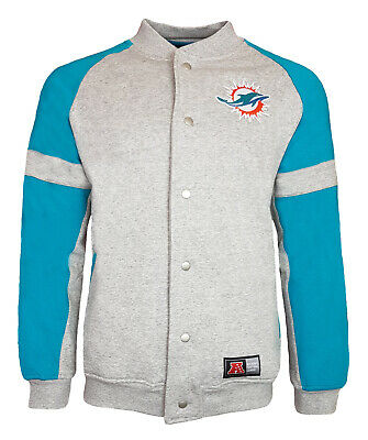 NFL Miami Dolphins Fleece Jacket Mens ALL SIZES Hoodie Hooded Top