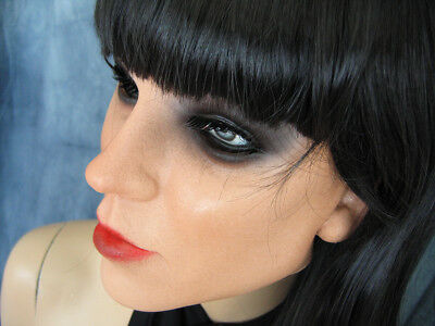 Latex Rubber Mask KEIRA +LASHES +BANGS-WIG - Real. Woman Girl Face Sissy Face