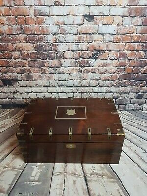 Antique Victorian Coromandel Writing Box, Slope With Keys and 3 secret drawers