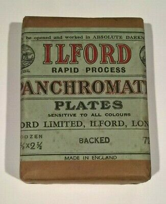Vintage ILFORD Rapid Process Panchromatic Plates Unopened Sealed Package