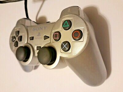 Sony Playstation Controller PS2 Dualshock2 Silver Wired Analog