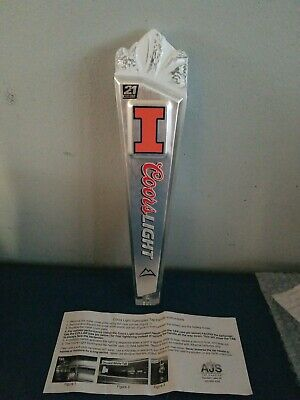 Coors Light Beer Color Changing Illinois Ncaa Collage University Tap Handle