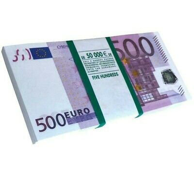 €500 Euro Souvenir Banknotes for Gift, Jokes,Practical jokes.in a pack of 90 pcs