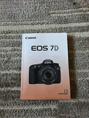 Canon Eos 7D Digital Camera Owners Instruction Manual -Spanish Text Only