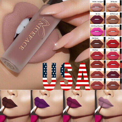 Long Lasting Liquid Lipstick Velvet Matte Lip Gloss Women Beauty Makeup US