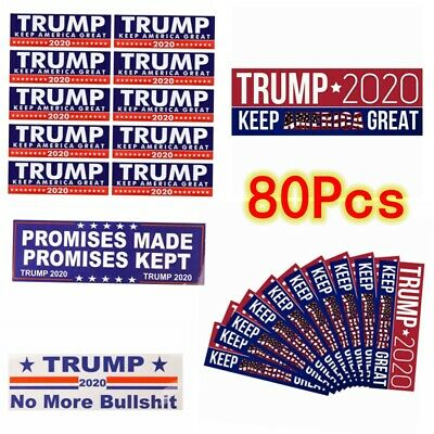 8Style * 10pcs Donald Trump 2020 President Keep America Great Bumper Car Sticker