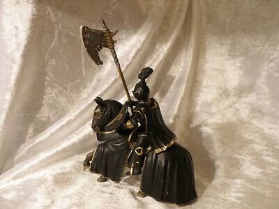 Schleich Medieval World Of History Black Knight With Poleaxe See Pics Nice Cond