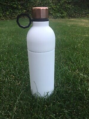 Starbucks Water Bottle Double Wall Stainless Steel 20 Oz White Rose Gold Cap Top