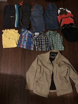Boys Size 6,7~ Lot Of 12 ~ Nike, Ralph Lauren, Chaps, Hurley And More...