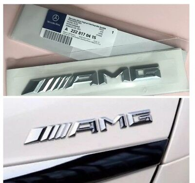 Genuine Mercedes AMG Badge for Rear Boot Trunk Tailgate for all A C E S Class