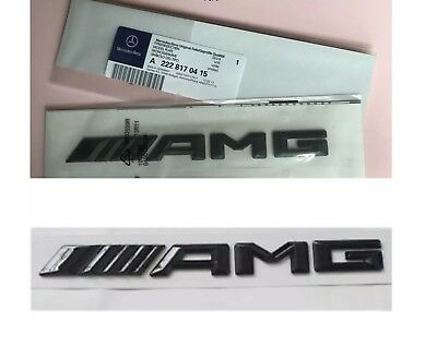 Genuine Mercedes AMG Matte Black Rear Badge Trunk Emblem C63 E63 A45 AMG