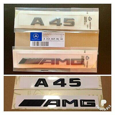 New Mercedes A45 AMG Badge Emblem Decals New Style Gloss Black Uk Seller 🇬🇧