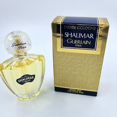 Shalimar Guerlain Paris Eau De Cologne 2.5 fl oz no 438 White Cover Perfume New