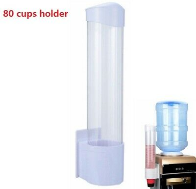 80 Cups Pull Type Cup Dispenser Premium Wall Mounted Disposable Cup Dispenser US