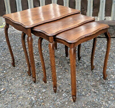 Vintage French Nest Of 3 Occasional Tables
