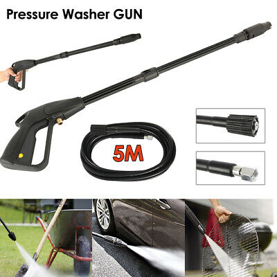 High Pressure Washer Spray Gun + 5m Washing Hose Kit For Car Jet Lance Wash CY