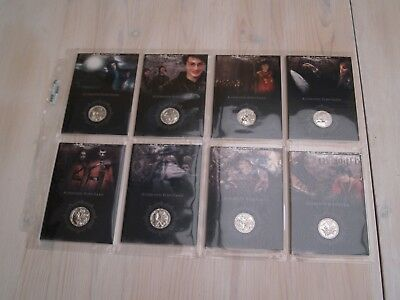 Rare Artbox Harry Potter Silver Coin Card Set CC1 to CC8 - Price Reduced!!